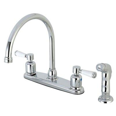 Paris Centerset Gooseneck Spout Double Handle Kitchen Faucet Finish: Polished Chrome