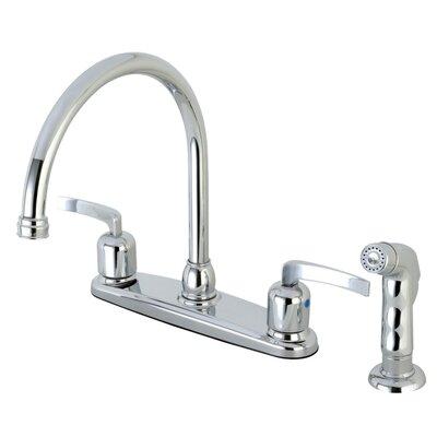 Centurion Centerset Gooseneck Spout Double Handle Kitchen Faucet Finish: Polished Chrome