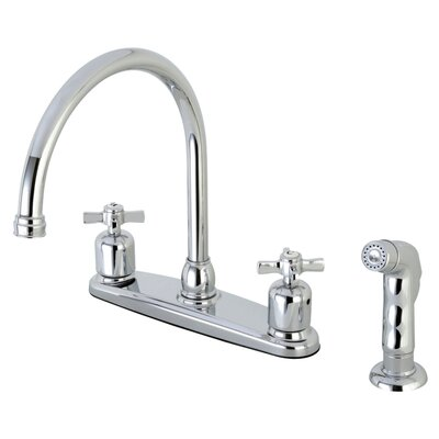 Millennium Centerset Gooseneck Spout Double Handle Kitchen Faucet Finish: Polished Chrome