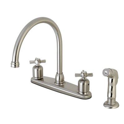 Millennium Centerset Gooseneck Spout Double Handle Kitchen Faucet Finish: Satin Nickel