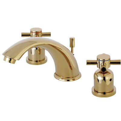 Concord Widespread Double Handle Bathroom Faucet with Drain Assembly Finish: Polished Brass