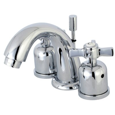 Millennium Mini-Widespread Double Handle Bathroom Faucet with Drain Assembly Finish: Polished Chrome