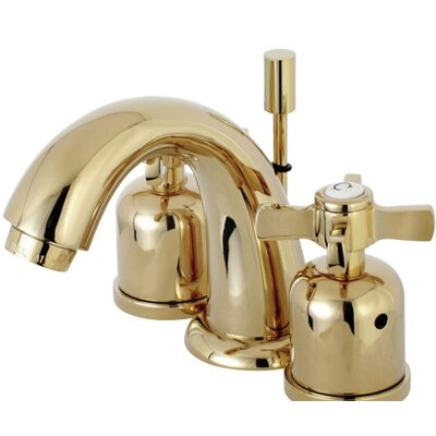 Millennium Mini-Widespread Double Handle Bathroom Faucet with Drain Assembly Finish: Polished Brass