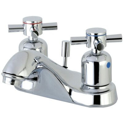 Concord Centerset Double Handle Bathroom Faucet with Drain Assembly Finish: Polished Chrome