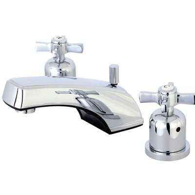 Millennium Widespread Double Handle Bathroom Faucet with Drain Assembly Finish: Polished Chrome
