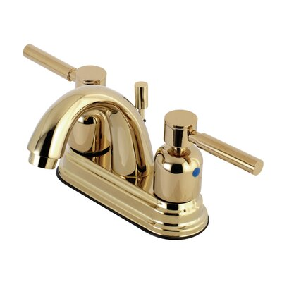 Concord Centerset Double Handle Bathroom Faucet with Drain Assembly Finish: Polished Brass, Size: 5 H x 6 W x 3.75 D