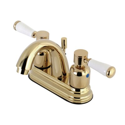 Paris Centerset Double Handle Bathroom Faucet with Drain Assembly Finish: Polished Brass, Size: 5 H x 6 W x 3.75 D