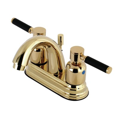 Kaiser Centerset Double Handle Bathroom Faucet with Drain Assembly Finish: Polished Brass
