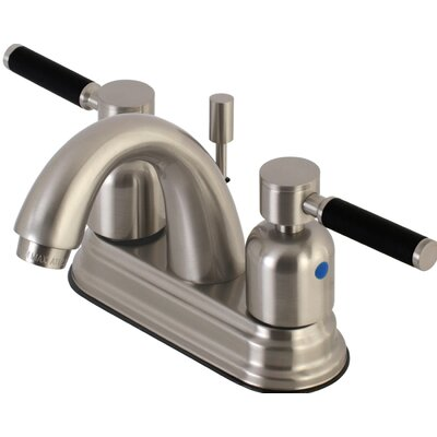 Kaiser Centerset Double Handle Bathroom Faucet with Drain Assembly Finish: Satin Nickel