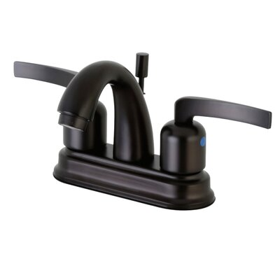 Centurion Centerset Double Handle Faucet with Drain Assembly Finish: Oil Rubbed Bronze, Size: 5 H x 6 W x 3.75 D