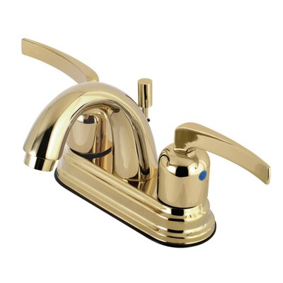 Centurion Centerset Double Handle Faucet with Drain Assembly Finish: Polished Brass, Size: 5 H x 6 W x 3.75 D