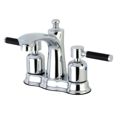 Kaiser Centerset Double Handle Bathroom Faucet with Drain Assembly Finish: Polished Chrome