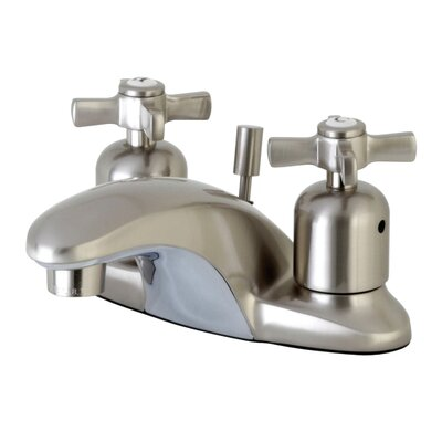 Millennium Centerset Double Handle Bathroom Faucet with Drain Assembly Finish: Satin Nickel