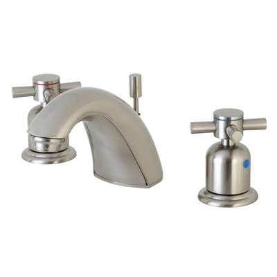 Concord Mini-Widespread Double Handle Bathroom Faucet with Drain Assembly Finish: Satin Nickel
