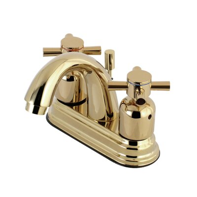 Concord Centerset Double Handle Bathroom Faucet with Drain Assembly Finish: Polished Brass