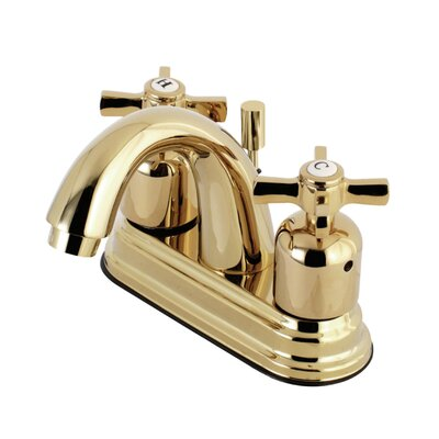 Millennium Centerset Double Handle Bathroom Faucet with Drain Assembly Finish: Polished Brass