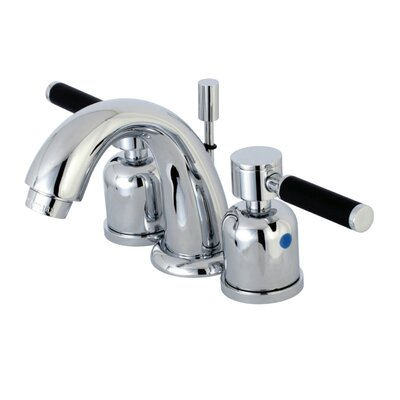 Kaiser Mini-Widespread Double Handle Bathroom Faucet with Drain Assembly Finish: Polished Chrome