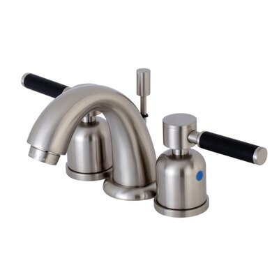 Kaiser Mini-Widespread Double Handle Bathroom Faucet with Drain Assembly Finish: Satin Nickel