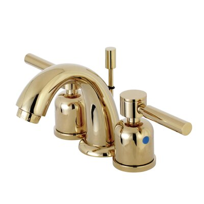 Concord Mini-Widespread Double Handle Bathroom Faucet with Drain Assembly Finish: Polished Brass