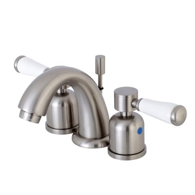 Paris Mini-Widespread Double Handle Bathroom Faucet with Drain Assembly Finish: Satin Nickel