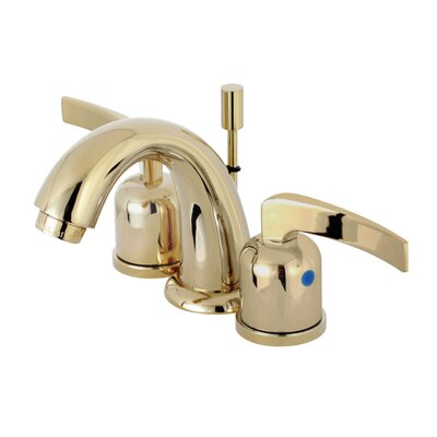 Centurion Mini-Widespread Double Handle Bathroom Faucet with Drain Assembly Finish: Polished Brass