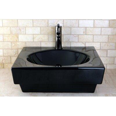 Beverly Square Vessel Bathroom Sink Finish: Black