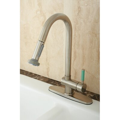 Green Eden Single Lever Handle Kitchen Faucet with Pull-Down Spray