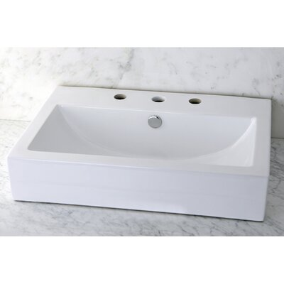 Clearwater 24 Wall Mount Bathroom Sink Finish: White, Faucet Mount: 8 Centers