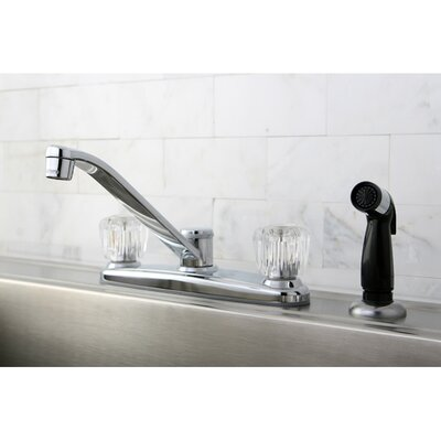 Americana Double Handle Kitchen Faucet with Side Spray
