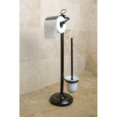 Kingston Brass Vintage Free Standing Pedestal Toilet Paper and Brush Holder - Finish: Oil Rubbed Bronze at Sears.com