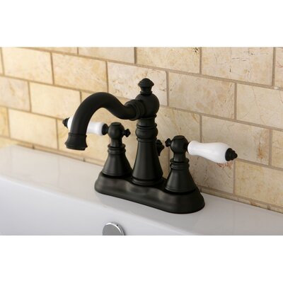 American Patriot Double Handle Centerset Bathroom Faucet with ABS Pop-Up Drain Finish: Oil Rubbed Bronze