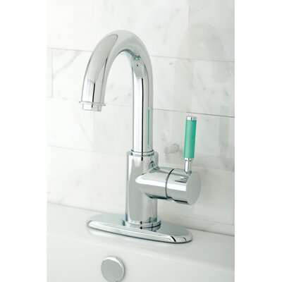 Green Eden Single Handle Bathroom Faucet with Push-up Drain Finish: Polished Chrome