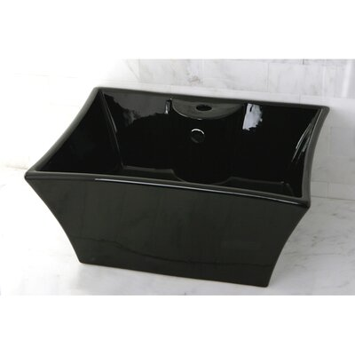 China Rectangular Vessel Bathroom Sink Sink Finish: Black