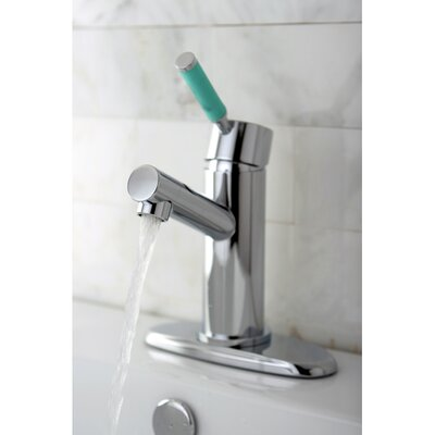Green Eden Single Handle Bathroom Faucet with Cover Plate Finish: Polished Chrome
