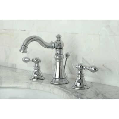 American Classic Double Handle Widespread Bathroom Faucet with ABS Pop-Up Drain Finish: Polished Chrome