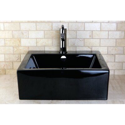 Commodore 18 Wall Mount Bathroom Sink Finish: Black