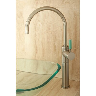 Green Eden Single Handle Vessel Sink Faucet Finish: Satin Nickel