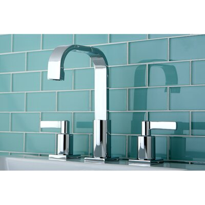 Continental Widespread Double Handle Bathroom Faucet with Drain Assembly Finish: Chrome