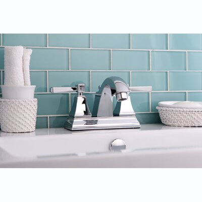 Monarch Double Handle Centerset Bathroom Faucet with Pop-Up Drain Finish: Chrome