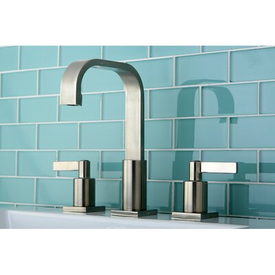 Continental Widespread Double Handle Bathroom Faucet with Drain Assembly Finish: Satin Nickel