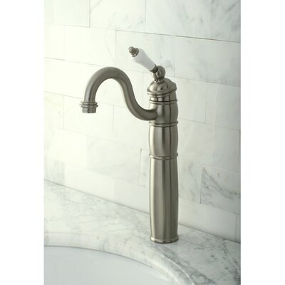 Heritage Single Handle Vessel Sink Faucet Finish: Satin Nickel