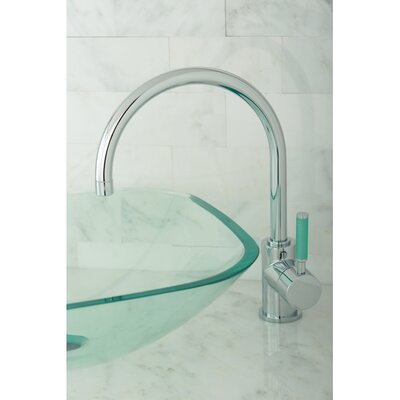 Green Eden Single Handle Vessel Sink Faucet Finish: Polished Chrome