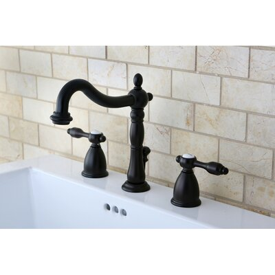 Tudor Double Handle Widespread Bathroom Faucet with ABS Pop-Up Drain Finish: Oil Rubbed Bronze