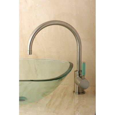 Green Eden Single Handle Vessel Sink Faucet Finish: Satin Nickel