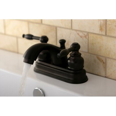 Knight Double Handle Centerset Bathroom Faucet with ABS Pop-Up Drain Finish: Oil Rubbed Bronze