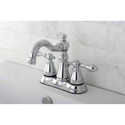 American Classic Double Handle Centerset Bathroom Faucet with ABS Pop-Up Drain Finish: Polished Chrome