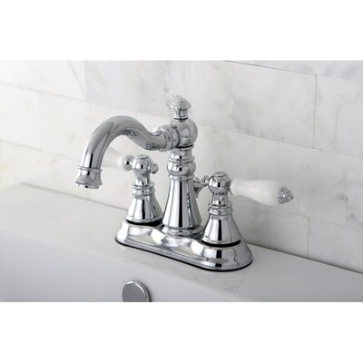 American Patriot Double Handle Centerset Bathroom Faucet with ABS Pop-Up Drain Finish: Polished Chrome