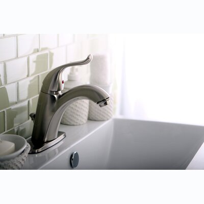 Yosemite Single Handle Centerset Bathroom Faucet Finish: Satin Nickel