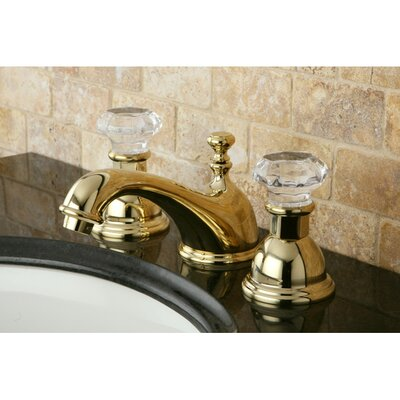 Celebrity Celebrity Double Crystal Handle Widespread Bathroom Faucet with Brass Pop-Up Drain Finish: Polished Brass