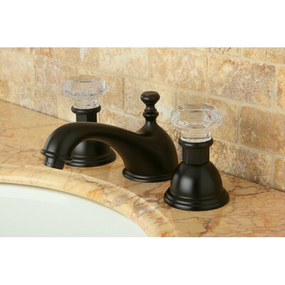 Celebrity Celebrity Double Crystal Handle Widespread Bathroom Faucet with Brass Pop-Up Drain Finish: Oil Rubbed Bronze